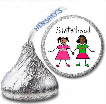 AKA Hershey Kisses labels - Sisterhood - 108 labels per sheet - Designs by Dee's Hands