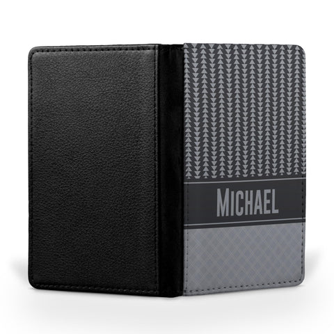 Personalized Passport Cover, Passport Holder - Smoke