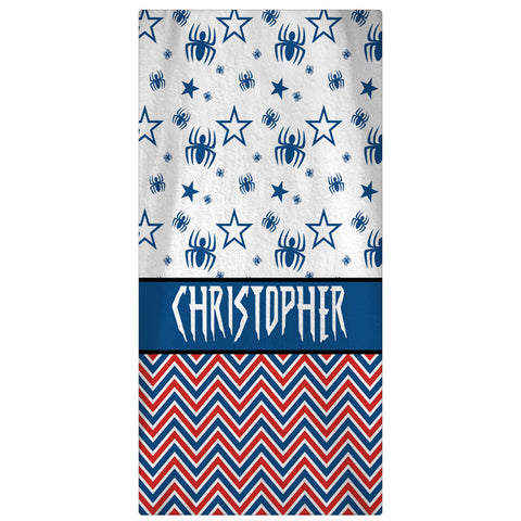 Designer Personalized Beach Towel - Spiderman Beach Towel - Designs by Dee's Hands  - 1