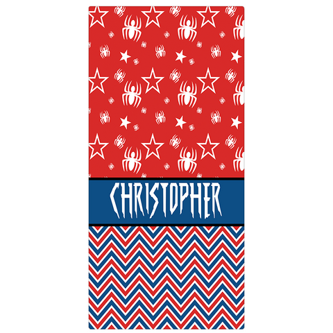 Designer Personalized Beach Towel - Spiderman Beach Towel - Designs by Dee's Hands  - 2