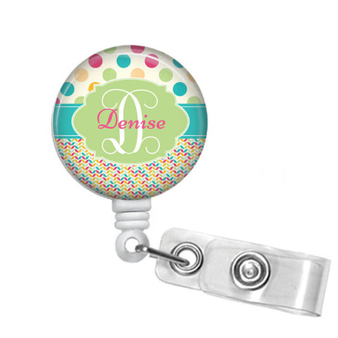 Badge Holder, Retractable Badge Reel, Spring time - Designs by Dee's Hands  - 1