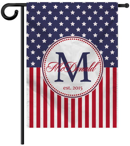 Garden Yard Flag or House Flag Banner - Stars and Stripes - Designs by Dee's Hands  - 1