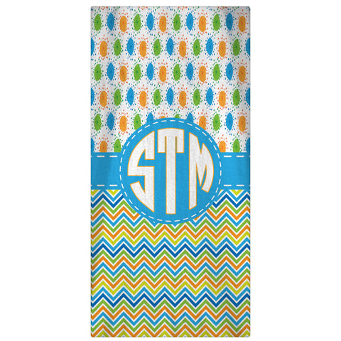 Summertime II Personalized Beach Towel - Designs by Dee's Hands