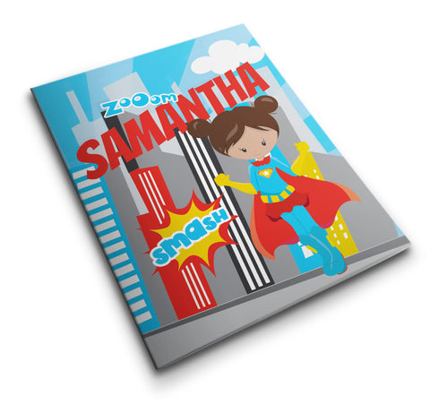 Personalized Pocket Folder Super Hero Boy or Girl - Designs by Dee's Hands  - 1