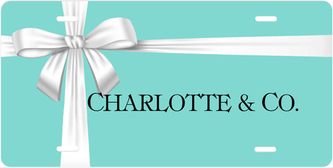 Personalized License Plate Car Tag - Tiffany Blue and Ribbon - Designs by Dee's Hands