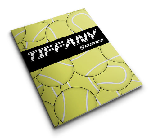 Personalized Pocket Folder Tennis Balls - Designs by Dee's Hands  - 1
