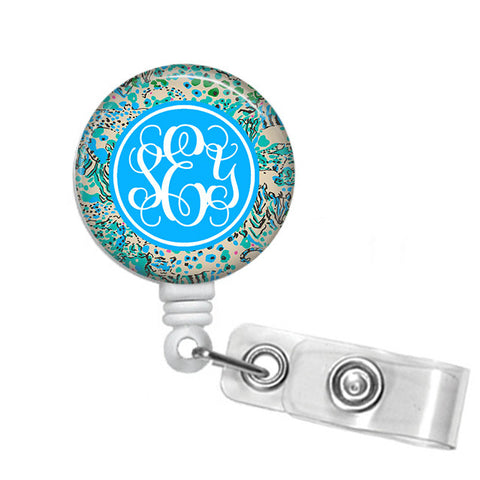 Badge Holder, Retractable Badge Reel - - Designs by Dee's Hands  - 1