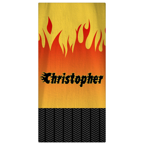 Beach Towel, Tires and Flames - Designs by Dee's Hands