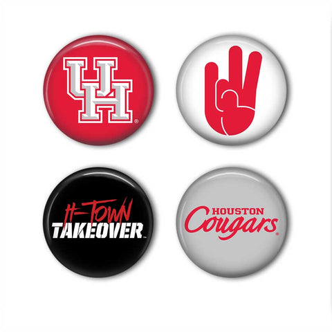 Coogs! Accessories - University of Houston Magnets or Buttons - Set of 4