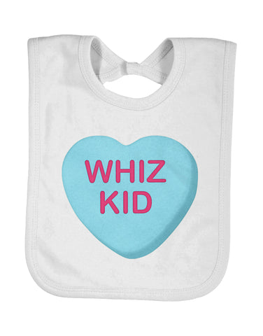 Baby Bib Whiz Kid Sweethearts® Valentine Candy - Designs by Dee's Hands