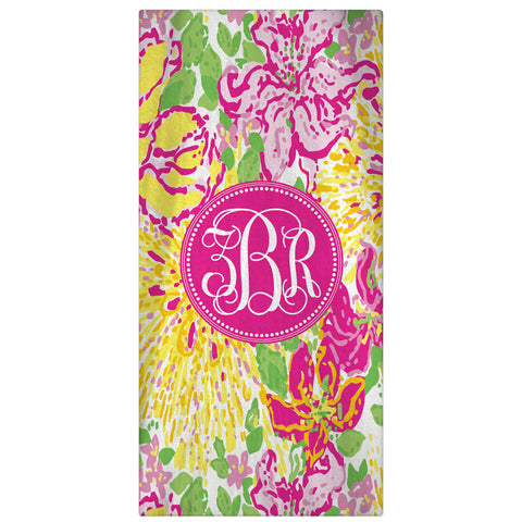 Personalized Beach Towel, Sun Monogrammed Towel - Designs by Dee's Hands