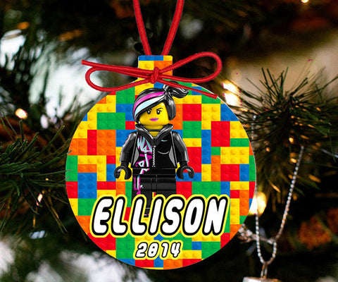 Personalized Christmas LEGO Ornament - Lego Movie Character Wyldstyle - Designs by Dee's Hands