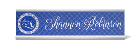 Zeta Phi Beta Personalized Desk Name Plate - Holder not included see link in description where to buy - Designs by Dee's Hands  - 1