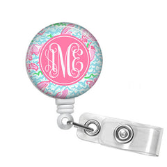 Badge Holder, Retractable Badge Reel - Lobstah Roll - Designs by Dee's Hands  - 1