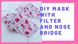 DIY best fabric home mask with melt blown fabric filter pocket and nose bridge | HOW TO SEW A FACE MASK WITH NOSE WIRE [free pattern pattern👇)