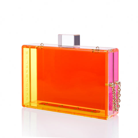 Milanblocks Two-Toned Neon Acrylic Clutch