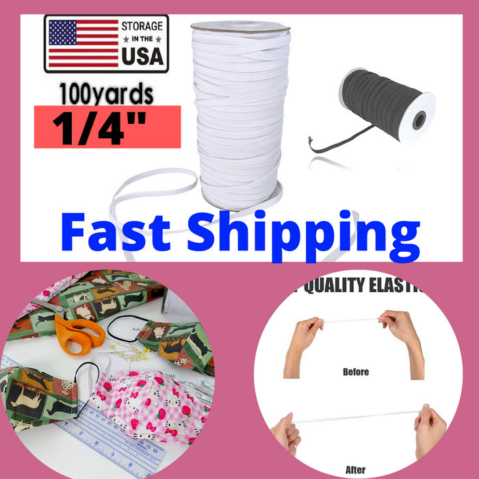 "100 yards 3mm / 1/8"" elastic band flat elastic  diy sewing craft elastics"