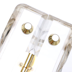 3D Engraved Clear Acrylic Top Handle Box Clutch-Handbags & Purses - MILANBLOCKS