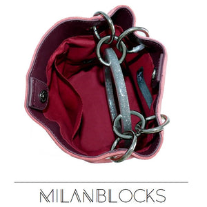 Milanblocks Bracelet Handle Bucket Leather Bag For Women-Handbags & Purses - MILANBLOCKS