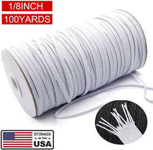 "Gray 100 yards 3mm / 1/8"" elastic band flat elastic  diy sewing craft elastics"
