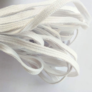 160 Yards White  Elastic Band for Sewing  Briaded Knit Elastics Heavy Stretch Elastic Cord Rope String for DIY Masks Craft (Upgrade Elastics, White)
