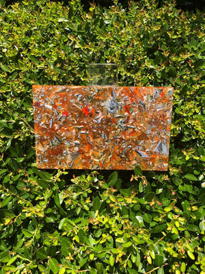 Amber Confetti Acrylic Box Clutch-Handbags & Purses - MILANBLOCKS