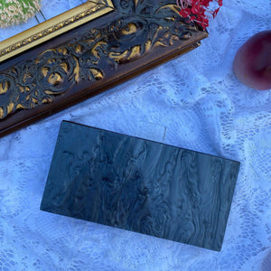 Black Pearl vintage Acrylic Box Clutch
