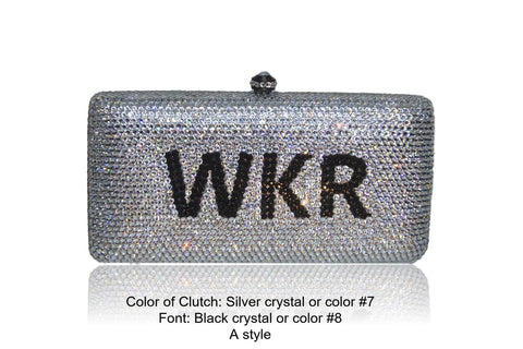 Custom Name Personalized Crystal Box Evening Clutch Bag-Handbags & Purses - MILANBLOCKS
