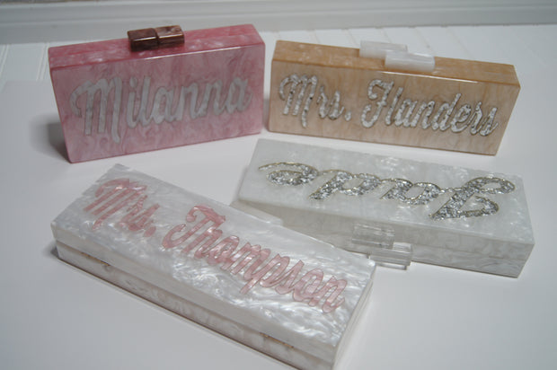 Custom Personalized Name Clutch Sample Sale!-Handbags & Purses - MILANBLOCKS