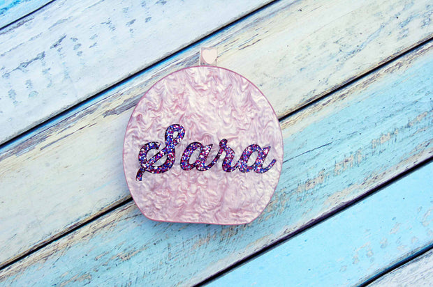 Round Acrylic Custom Name Clutch-Handbags & Purses - MILANBLOCKS