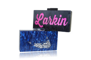 Personalized Name Acrylic Box Clutch-Medium Size-Handbags & Purses - MILANBLOCKS