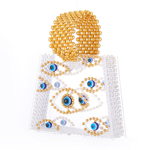 Evil Eye Beaded Bag Acrylic Clutch Bag-Handbags & Purses - MILANBLOCKS