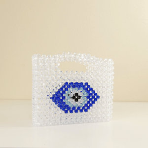 Evil Eye Beaded Purse Vintage 1960's  Bead Clutch Handbag-Handbags & Purses - MILANBLOCKS