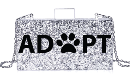 Acrylic Silver Glitter Animal Print PAW Clutch Bag- - MILANBLOCKS