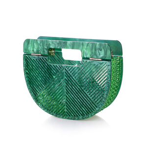 Green Ark Bamboo Acrylic Clutch-Handbags & Purses - MILANBLOCKS