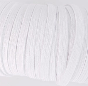 Lavender 100 yards 1/4 Inch Width Braided Elastic Band White Elastic Cord Heavy Stretch Flat Soft Knit Elastic