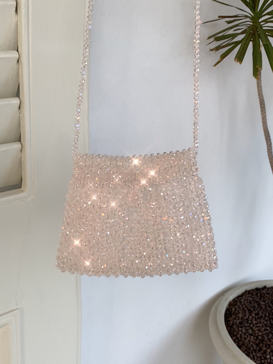 Iridescent Crossbody Beaded Bag-Handbags & Purses - MILANBLOCKS