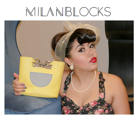 Yellow Leather Italian Leather Vintage Tote handbag purses and handbags-Handbags - MILANBLOCKS