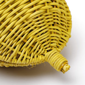 Pearl Handle Wicker Lemon Bag-Handbags & Purses - MILANBLOCKS