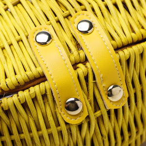 Lemon Straw Vintage Crossbody Bag-Handbags & Purses - MILANBLOCKS