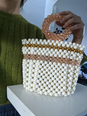 Circle Ring Beaded Handbag Purse-Handbags & Purses - MILANBLOCKS
