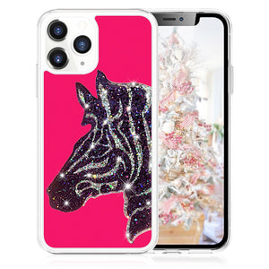 Milanblocks  iPhone 11 Zebra Glitter Flowing Phone Case