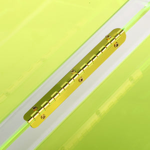 Neon Green Acrylic Lucite Box Clutch Bag-Handbags & Purses - MILANBLOCKS