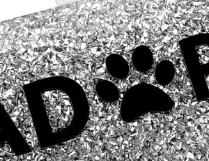Paw animal print silver glitter bag-Handbags & Purses - MILANBLOCKS