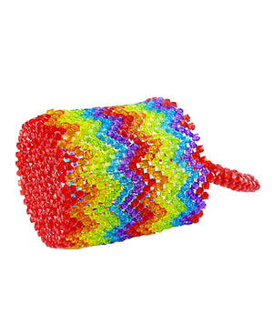 Rainbow Mini Beaded Bucket Bag-Handbags & Purses - MILANBLOCKS