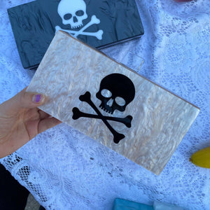 Skull Acrylic Box Evening Clutch Bag