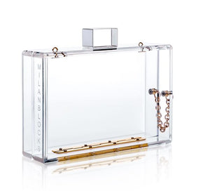 Transparent Acrylic Clear Clasp Clutch-Handbags & Purses - MILANBLOCKS