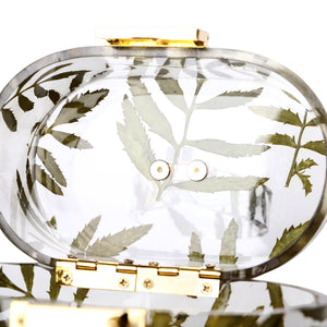 Top Handle Vintage Lucite leaves Acrylic Box Clutch-Handbags & Purses - MILANBLOCKS