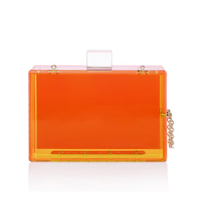 Trendy Neon Two Tone Transparent Acrylic Clutch-Handbags & Purses - MILANBLOCKS