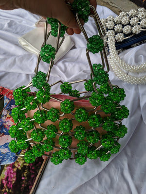 Vintage Metal Square Beaded Bag-Handbags & Purses - MILANBLOCKS